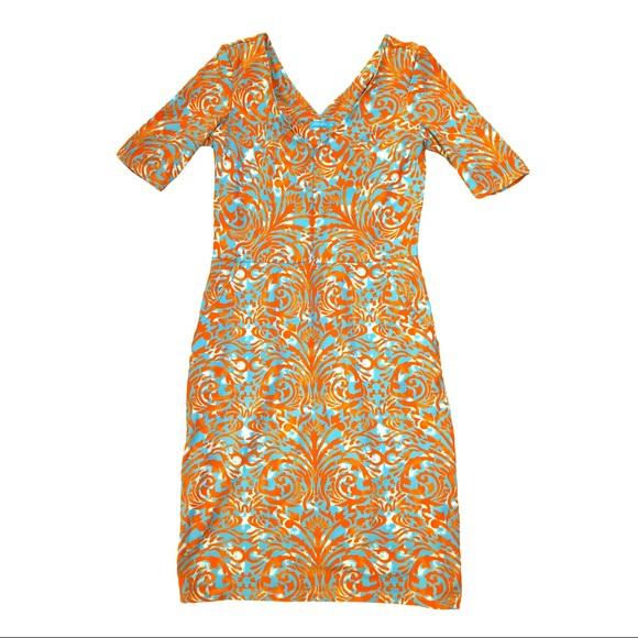 J. McLaughlin Casey Dress Catalina Cloth EUC XS
